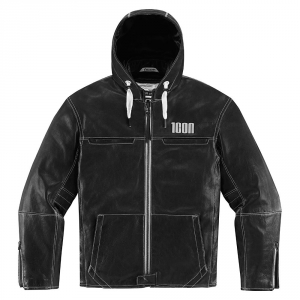 Blouson Moto Cuir Icon THE HOOD