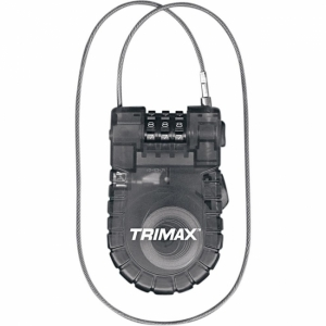 Cable Antivol Moto Trimax Retractable 0,9 m 3 mm Serrure Code