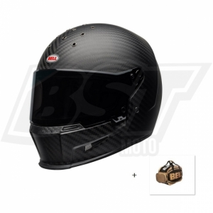 Casque Moto BELL ELIMINATOR Carbone Mat + Sac