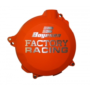 Couvercle de carter d'embrayage BOYESEN Factory Racing orange KTM EXC450/500