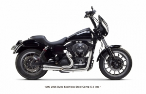 Echappement Harley Davidson Dyna Full System - 1999-2005 -  Two Bros