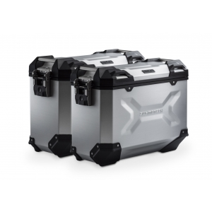 Ensemble Valise SW Motech TRAX ADV 37/37 L Gris Avec Support Lateral EVO YAMAHA