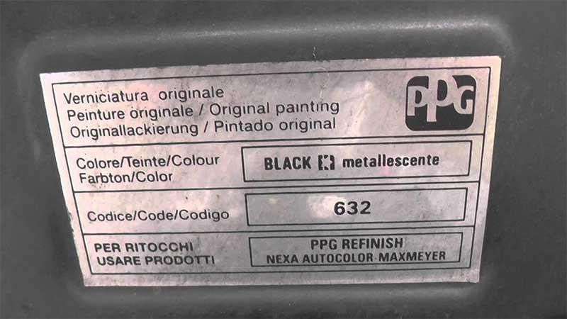 o trouver votre code couleur fiat peinture voiture bst. Black Bedroom Furniture Sets. Home Design Ideas